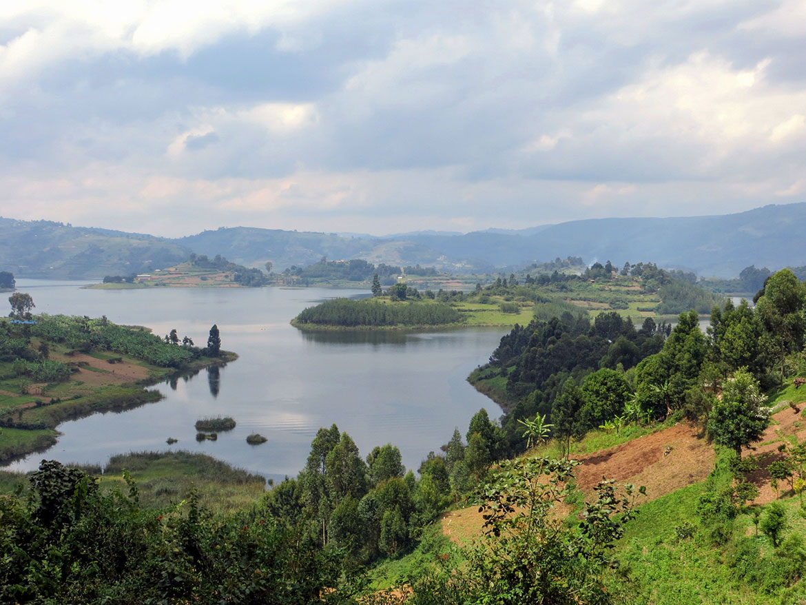 Lake Bunyonyi in south-western Uganda