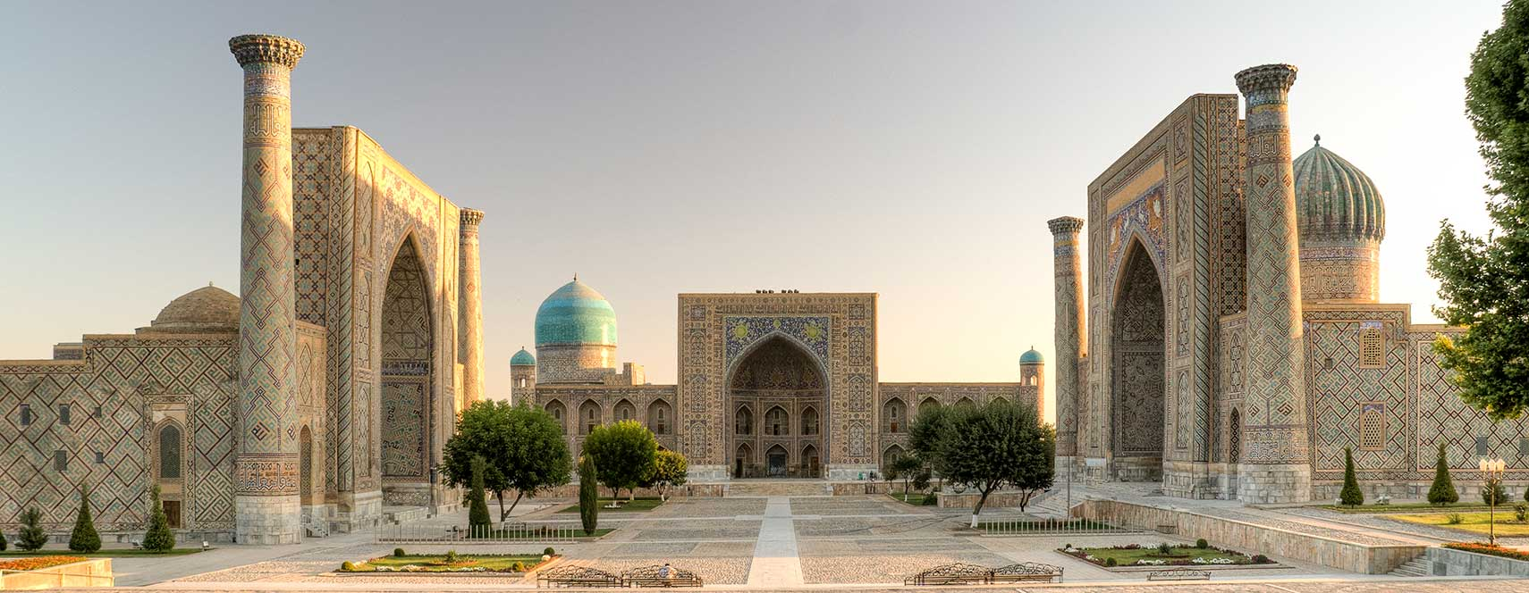 Registan with its three madrasahs in Samarkand
