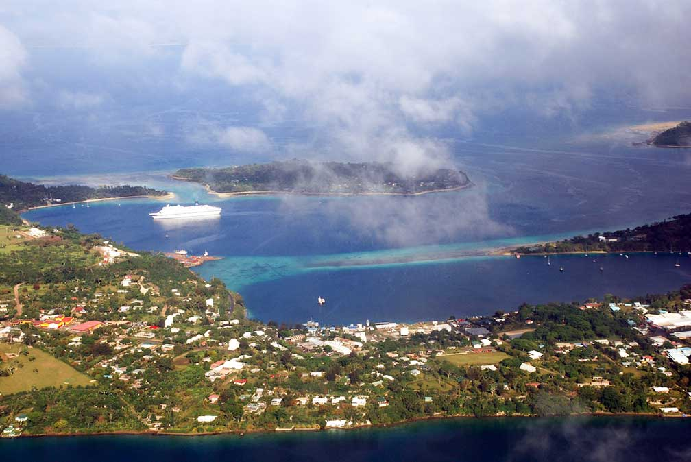 Google Map Of Port Vila Vanuatu Nations Online Project - Where is vanuatu