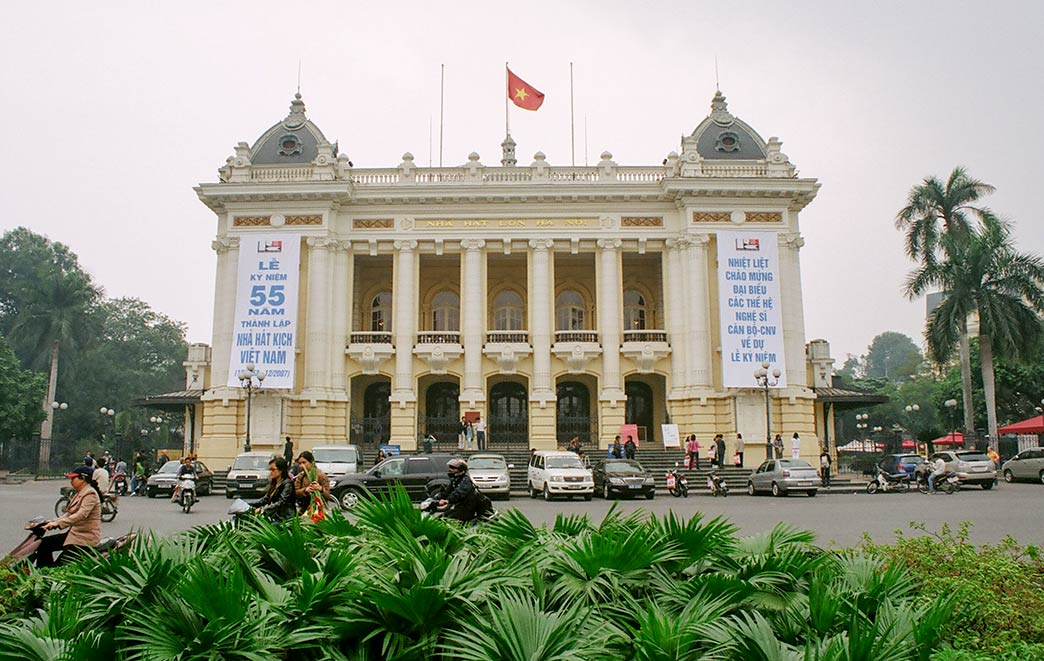 Ha Noi Opera House in Hanoi, capital of Vietnam