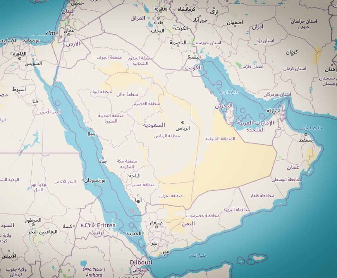 List of Countries of the World in Arabic, أسماء الدول العربية - Nations  Online Project