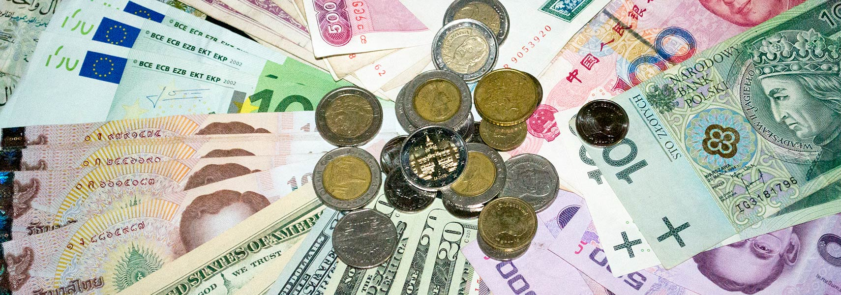 International Currencies, banknotes and coins