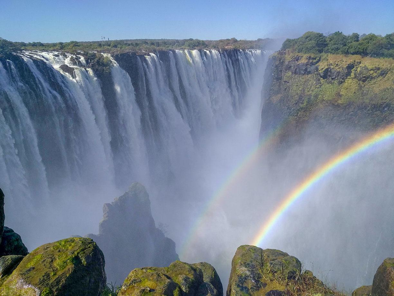 Google Map Of Victoria Falls Zambia And Zimbabwe Nations