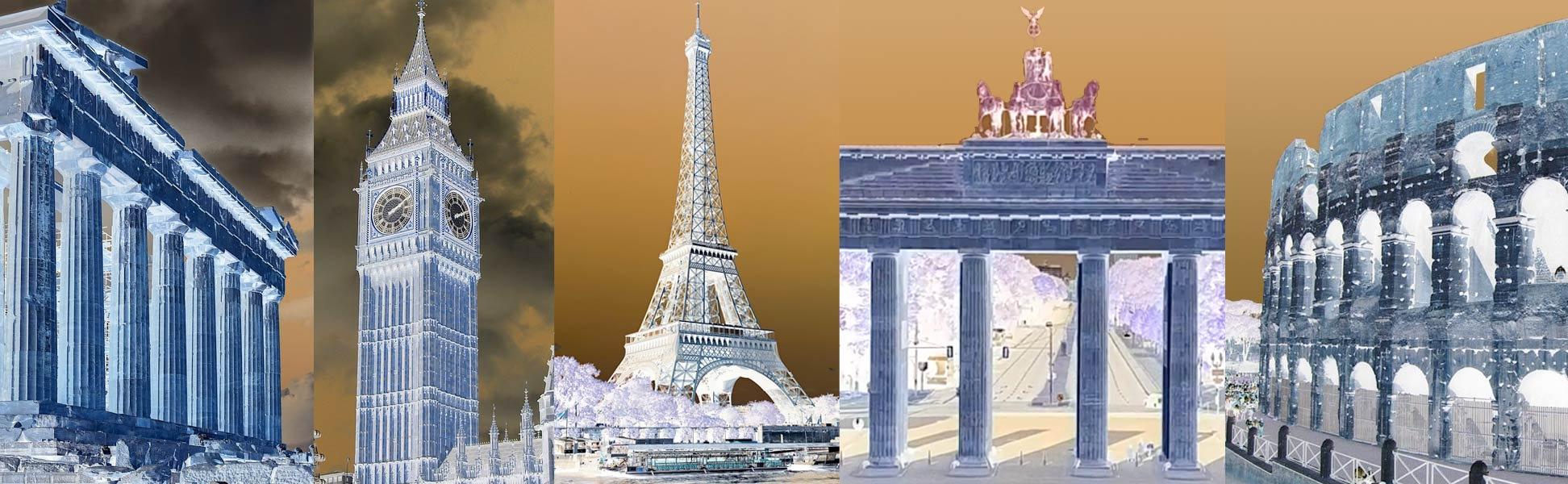 Buildings of European Capitals: Athens, Greece; London, UK; Paris, France; Berlin, Germany; and Rome in Italy
