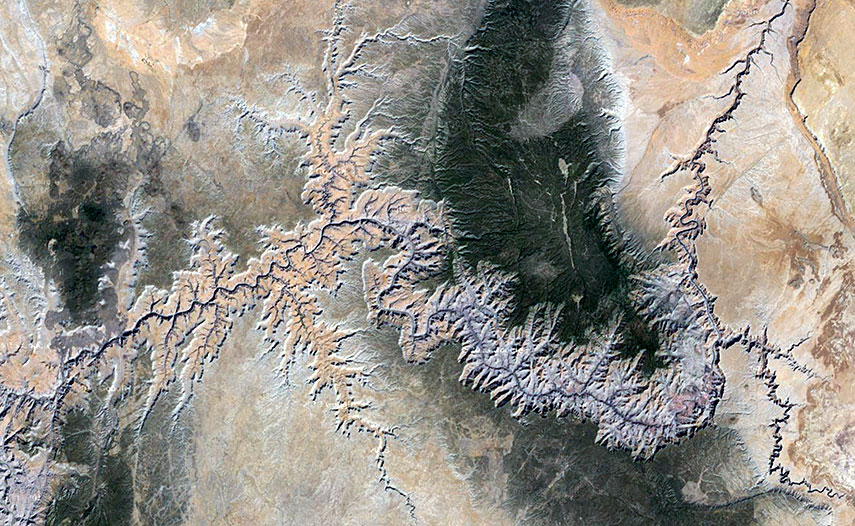 Fractal-Earth, Grand Canyon in the southwestern United States