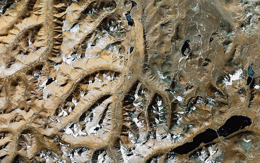 Fractal-Earth, Tibet, China