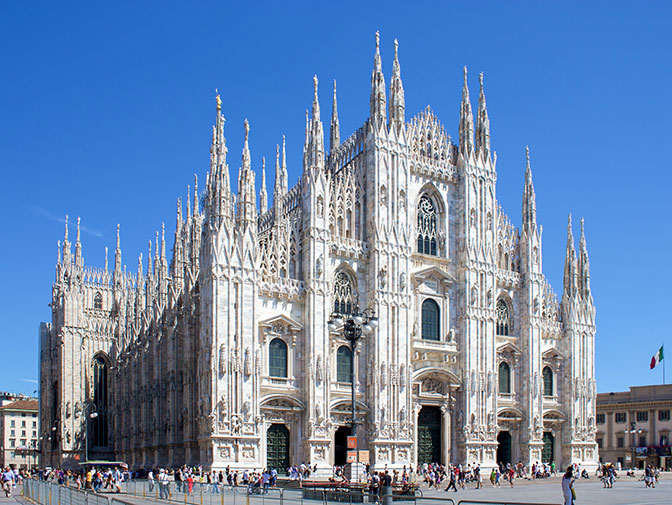 Cathedral-Basilica in Milan, Italy