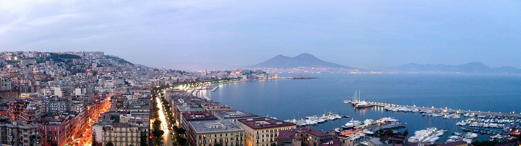 satellite view and map of naples italy nations online project