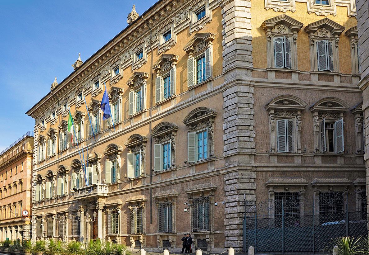 Palazzo Madama in Rome, seat of the Senate of the Italian Republic.