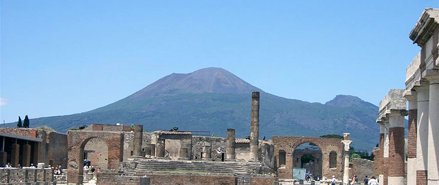 Where Is Pompeii On A Map Of Italy.Satellite View And Map Of Mount Vesuvius Naples Italy Nations