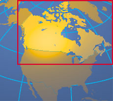 Location map of Canada. Where in the world is Canada?