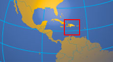 Location map of the Dominican Republic. Where in the Caribbean is the Dominican Republic?