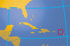 Location map of Antigua and Barbuda. Where in the Caribbean is Antigua and Barbuda?
