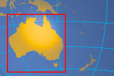Location map of Australia. Where in the world is Australia?