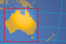 location map of australia where in the world is australia