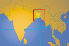 Location map of Bangladesh. Where in Asia is Bangladesh?