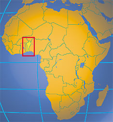 Location map of Benin. Where in Africa is Benin?