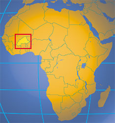 Location map of Burkina Faso. Where in Africa is Burkina Faso?