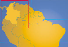 Location map of Colombia. Where in the world is Colombia?