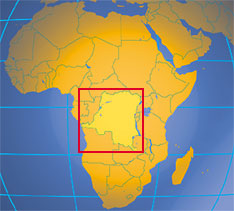 Location map of the Democratic Republic of the Congo. Where in Africa is Democratic Republic of the Congo?