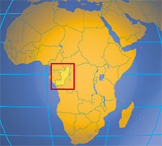 Location map of the Republic of the Congo. Where in Africa is the Republic of the Congo