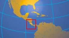 Location map of Costa Rica. Where in Central America is Costa Rica?
