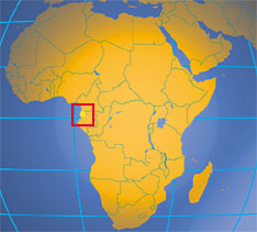 Location map of Equatorial Guinea. Where in Africa is Equatorial Guinea?