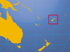 Location map of Fiji. Where in the South Pacific is Fiji?
