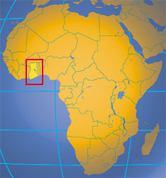 Location map of Ghana. Where in Africa is Ghana?