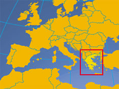 Greece country profile nations online project location map of greece location of greece in europe gumiabroncs Gallery