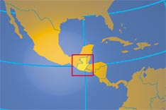 Location map of Guatemala. Where in Central America is Guatemala?