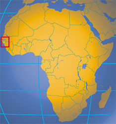 Location map of Guinea-Bissau. Where in Africa is Guinea-Bissau?