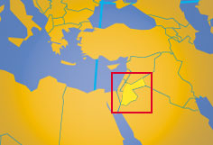 Jordan hashemite kingdom of jordan country profile nations location map of jordan where in the world is jordan gumiabroncs Choice Image