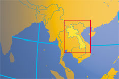 Location Map of Laos. Where in Asia is Laos?