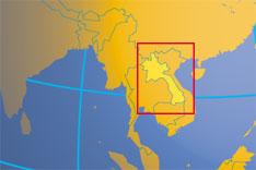 Laos On A World Map.Lao Lao Pdr Laos Lan Xang Southeast Asia Laos