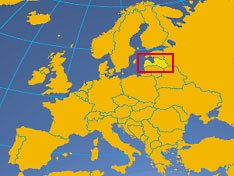Location map of Latvia. Where in the Europe is Latvia?