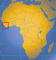 Location map of Liberia. Where in Africa is Liberia?