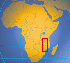 Location map of Malawi. Where in Africa is Malawi?