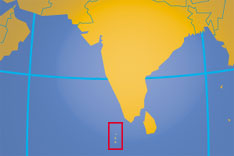Location map of Maldives. Where in the world are the Maldives?
