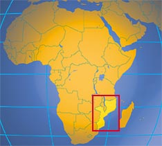 where in Africa is Mozambique