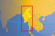 Location map of Myanmar. Where in Asia is Burma - Myanmar?
