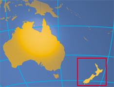 Location map of New Zeeland. Where in the world is New Zealand?