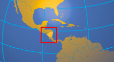 Location map of Nicaragua. Where in Central America is Nicaragua?