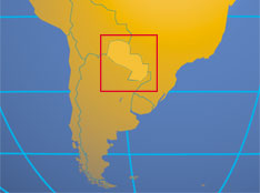 Where in the world is Paraguay?