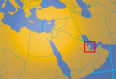 Location map of Qatar. Where in the Middle East is Qatar?