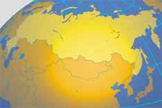 Location map of Russia. Where in the world is Russia