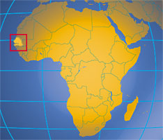 Senegal On Africa Map.Senegal Republic Of Senegal Western Africa