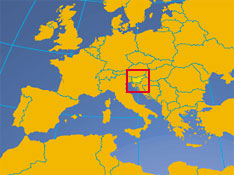 Location map of Slovenia. Where in Europe is Slovenia?