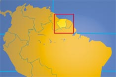 Location map of Suriname. Where in South America is Suriname?