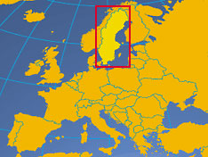 where in Europe is Sweden
